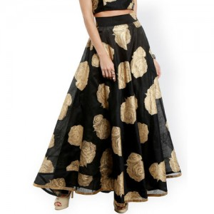 5318eb0509 Buy Ira Soleil Olive Printed Maxi Skirts online | Looksgud.in