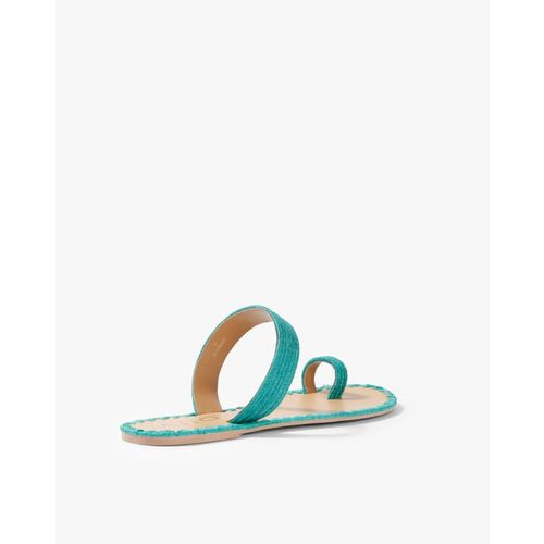 AJIO Textured Toe-Ring Flat Sandals