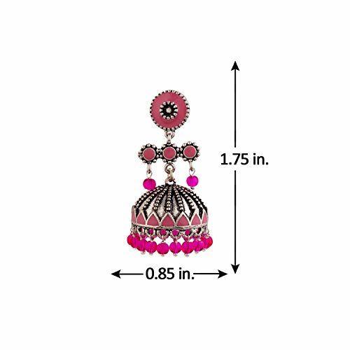 Voylla Jhumki Earrings for Women (Silver)(8907617887654)