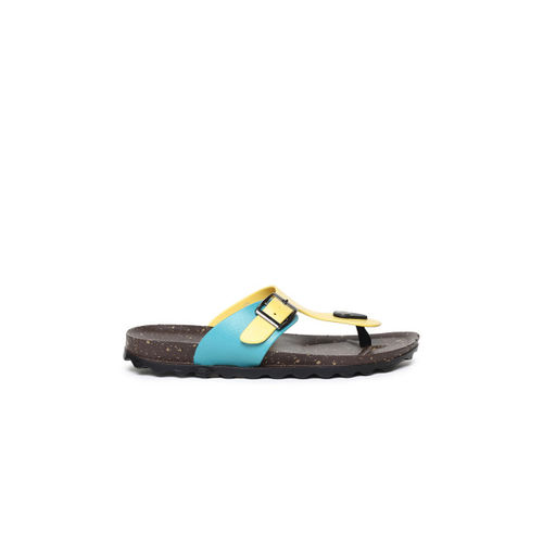Ginger by Lifestyle Women Yellow T-Strap Flats