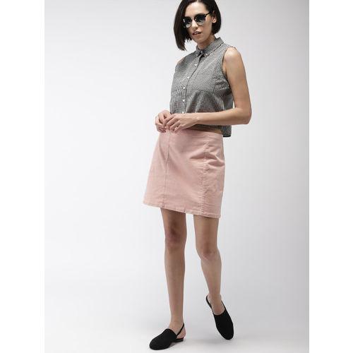 FOREVER 21 Women Pink Corduroy Mini Skirt