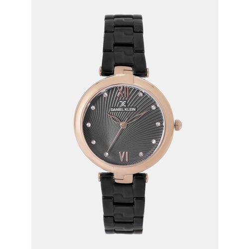 Daniel Klein Premium Women Gunmetal-Toned Analogue Watch DK11878-5