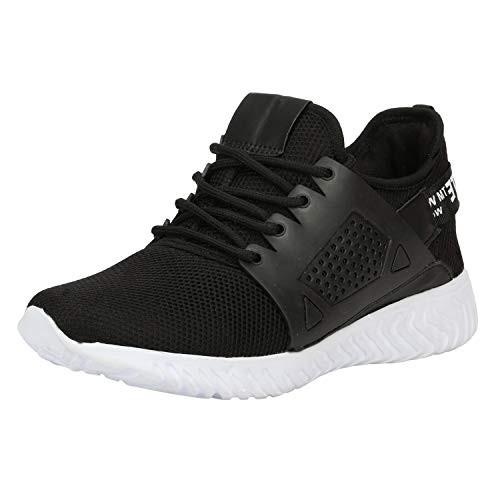 Kraasa Rapid Running Shoes for Men Black UK 9