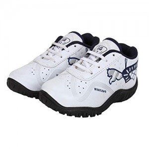 Earton Boys Comfortable & Trendy Look Rexine White Running Shoes (Kids)