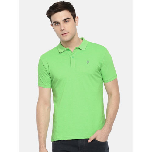 Pepe Jeans Men Green Solid Polo T-shirt