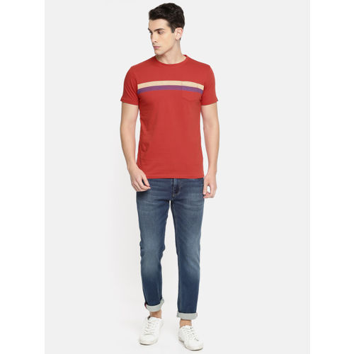 Pepe Jeans Red Striped Cotton T-Shirt