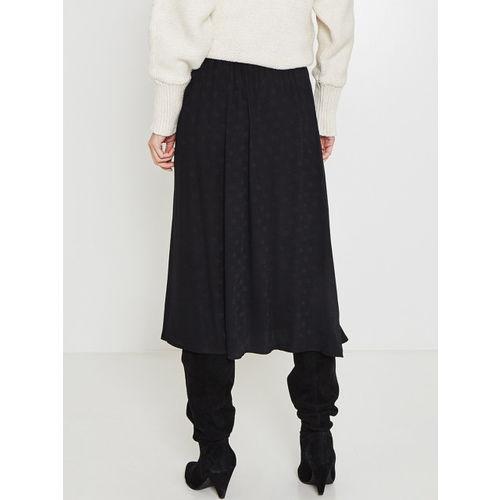 promod Women Black Printed A-Line Skirt