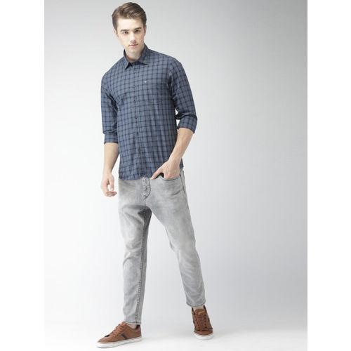 Arrow Sport Men Blue Slim Fit Checked Casual Shirt