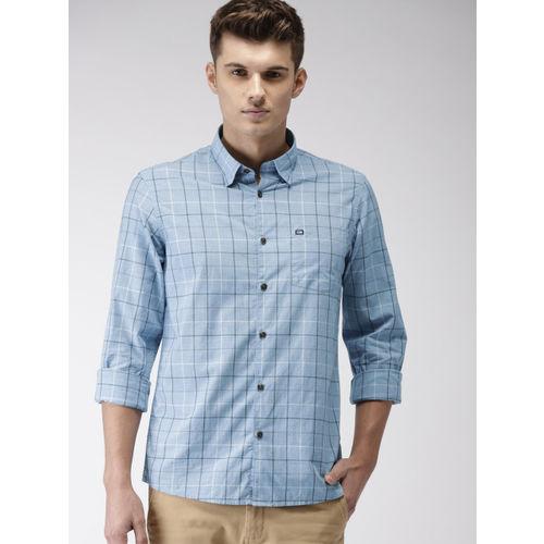 Arrow Sport Men Blue  Urban Slim Fit Checked Casual Shirt