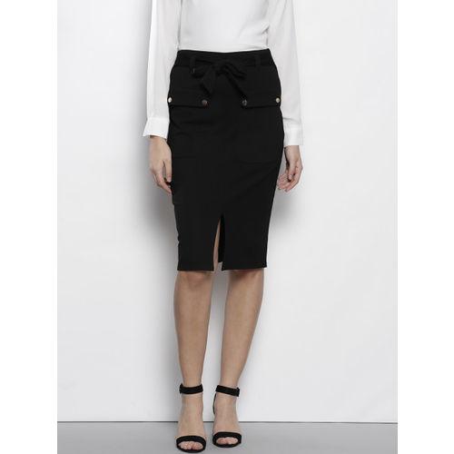abc2c34987 Buy DOROTHY PERKINS Women Black Solid Pencil Skirt online   Looksgud.in