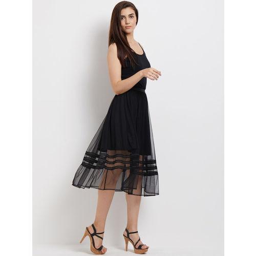 109F Black Women Self-Design A-Line Skirt