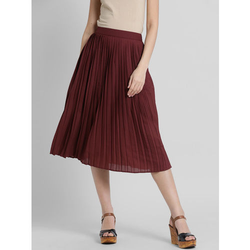 a44dced0c37a Buy Leo Sansini Women Maroon Flared Skirt online | Looksgud.in