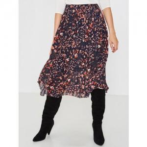 c62430fca42b Buy AND Blue Printed Midi Skirt online | Looksgud.in