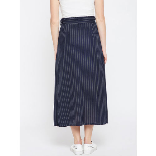 1e51108e97 Buy RARE Women Navy Blue Striped A-Line Maxi Skirt online | Looksgud.in