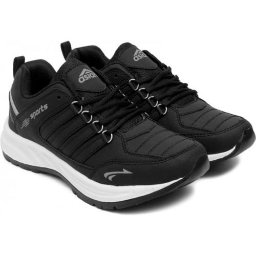 Asian Black Sports Shoes For Men(Black, Grey)