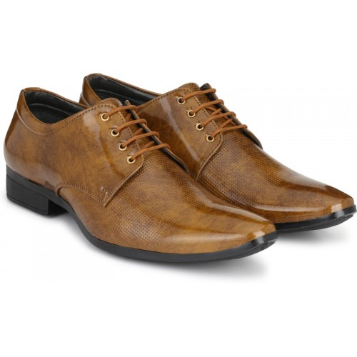 ROAD STAG Men's Office and Party 292 Derby For Men(Brown)