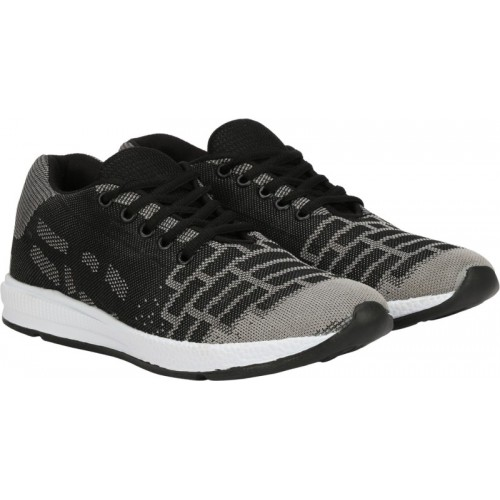 Kraasa Flexi Knitted Running Shoes For Men(Grey)