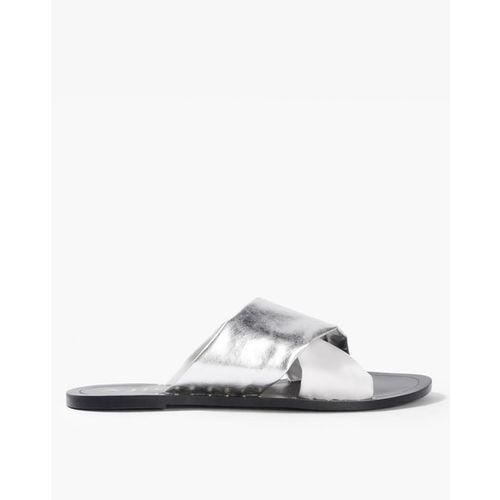 112683570 Buy AJIO Criss-Cross Strap Flat Sandals online