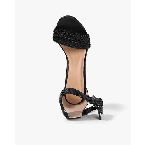 AJIO Ankle-Loop Stilettos with Braided Straps