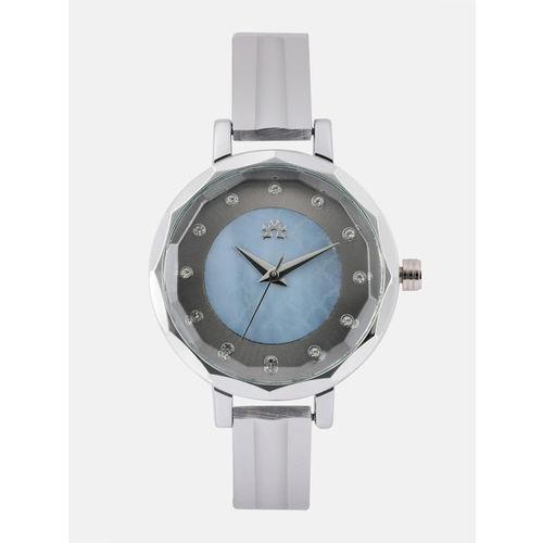 Anouk Women Grey & Blue Embellished Analogue Watch DES-WAT-AN3