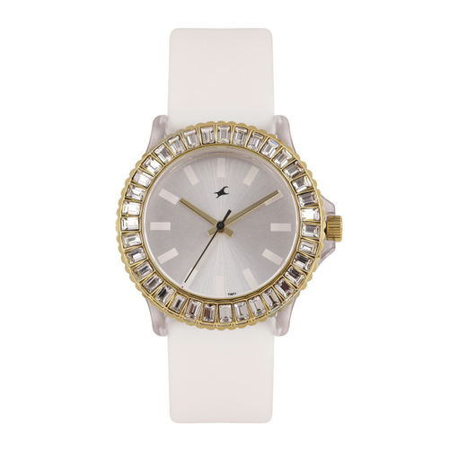 Fastrack Women Silver-Toned Analogue Watch NK9827PP01