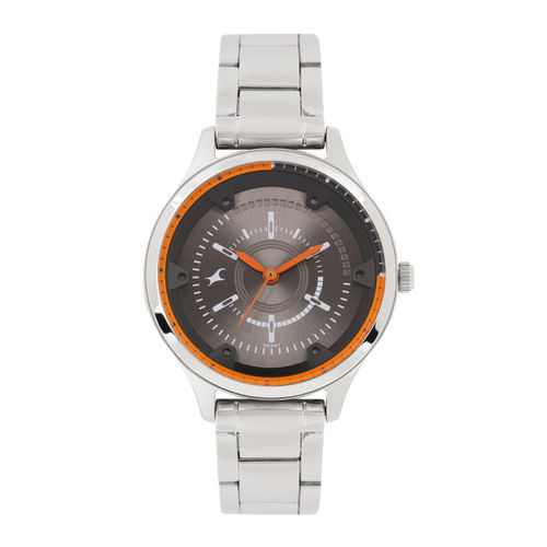 Fastrack Women Gunmetal-Toned Analogue Watch NK6138SM01