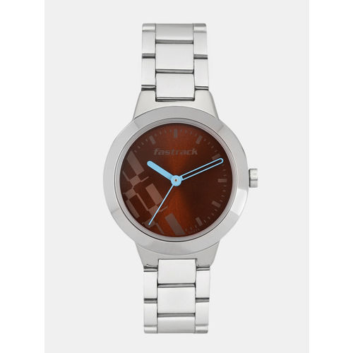 Fastrack Women Brown Analogue Watch NK6150SM02