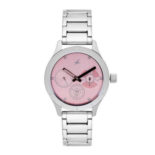 Fastrack Women Pink Analogue Watch NK6078SM07