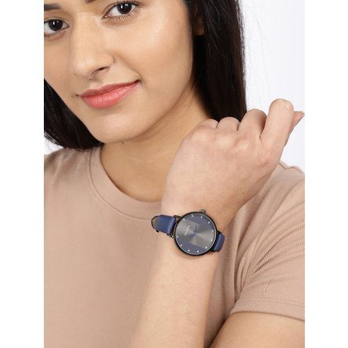 DressBerry Women Gunmetal-Toned & Blue Analogue Watch MFB-PN-SNT-F07