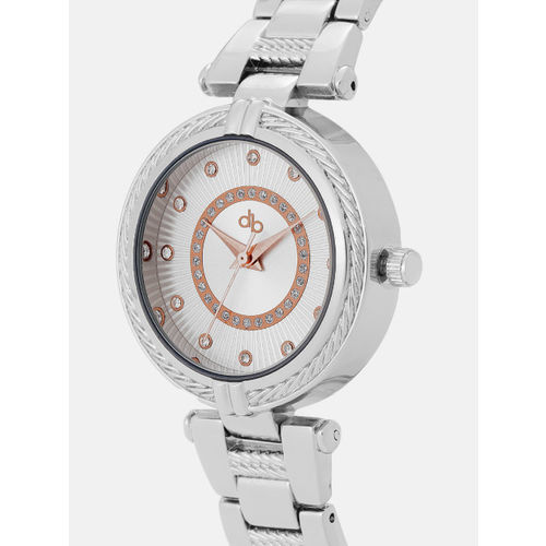 DressBerry Women Silver-Toned Textured Analogue Watch DW-18-DB7A