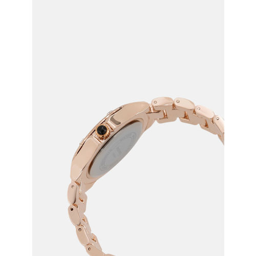 DressBerry Women Blue & Rose Gold-Toned Analogue Watch