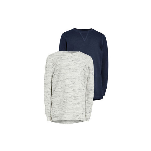next Boys Pack of 2 Solid Round Neck Tshirts