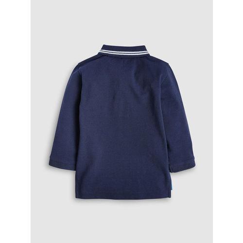 next Boys Navy Blue Solid Polo Collar T-shirt