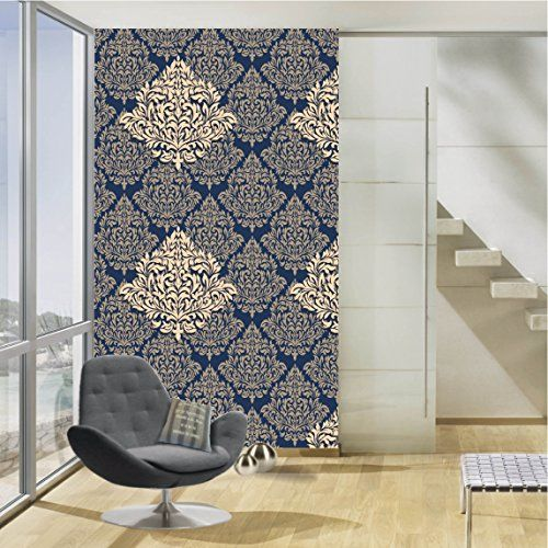 100yellow Paisley Design Printed Peel and Stick Decor Self Adhesive Wallpaper (PVC Vinyl, 26.7 Sqft, Multicolour)