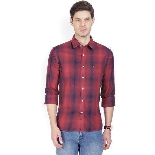 Arrow Sport Men's Checkered Casual Red, Blue Shirt