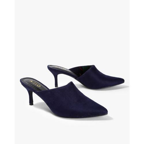 AJIO Pointy-Toe Mules with Kitten Heels