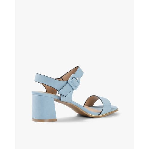AJIO Chunky-Heeled Sandals with Buckle Closure