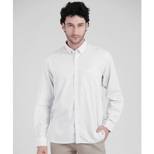 Arrow Sport Men Checkered Casual White Shirt