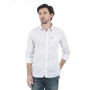 Arrow Sport Men Printed Casual White Shirt