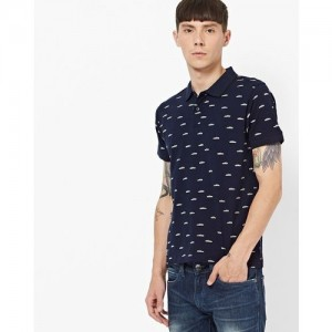 765f6701c8 Pepe Jeans Navy Half Sleeves Polo T-Shirt