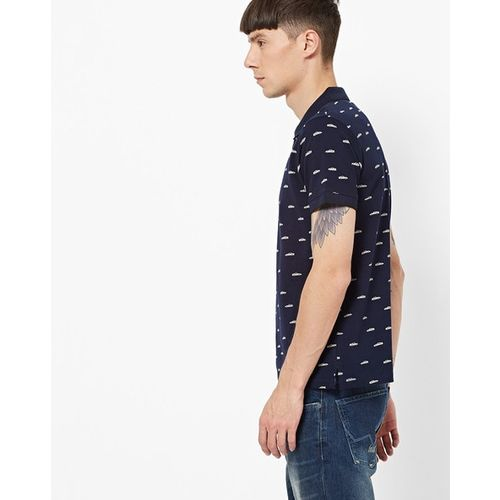Pepe Jeans Navy Half Sleeves Polo T-Shirt