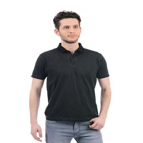 Buy Pepe Jeans Black Cotton Half Sleeves Polo T Shirt online