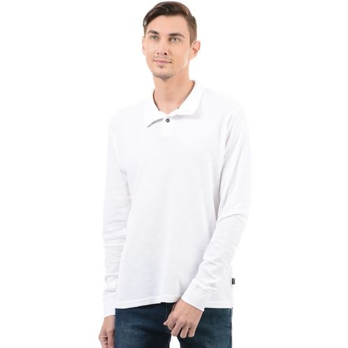 Pepe Jeans Solid Men's Polo Neck White T-Shirt