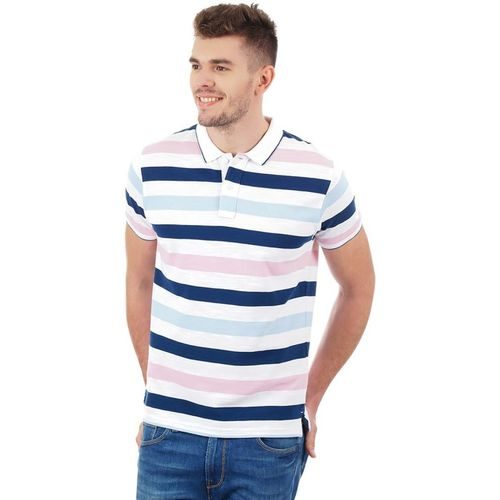 Pepe Jeans Striped Men Polo Neck Multicolor T-Shirt