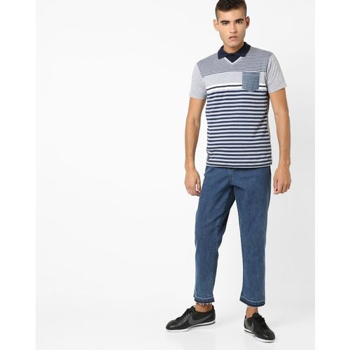 Pepe Jeans Striped Slim Fit Polo T-shirt