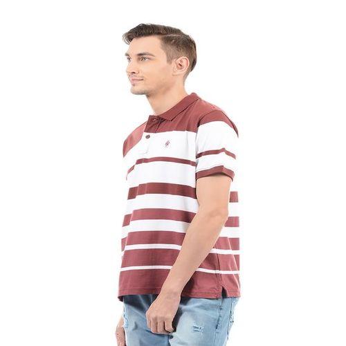 Pepe Jeans Maroon Half Sleeves Regular Fit T-Shirt