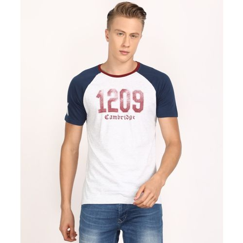Pepe Jeans Printed Men's Round Neck Grey T-Shirt