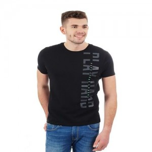Pepe Jeans Black Round Neck Printed T-Shirt