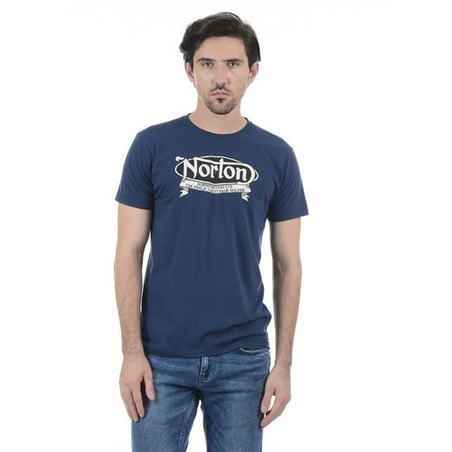 Pepe Jeans Graphic Print Men Round Neck Dark Blue T-Shirt