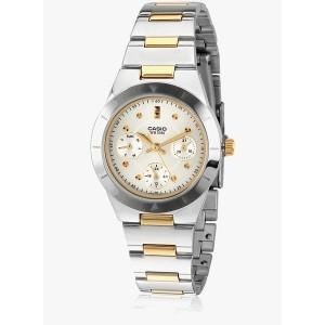 Casio Enticer Lady's Ltp-2083Sg-7Avdf-A530 Silver Analog Watch